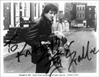 SYLVESTER STALLONE - INSCRIBED PRINTED PHOTOGRAPH SIGNED IN INK