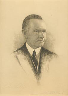 PRESIDENT CALVIN COOLIDGE - PRINTED ART SIGNED IN PENCIL CO-SIGNED BY: FRANKLIN P. MEAD