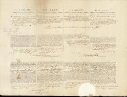 PRESIDENT ULYSSES S. GRANT - FOUR LANGUAGE SHIPS PAPERS SIGNED 08/03/1871 CO-SIGNED BY: HAMILTON FISH