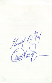PRESIDENT GERALD R. FORD - MENU SIGNED CO-SIGNED BY: GENERAL ALEXANDER M. HAIG JR.