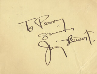 JAMES JIMMY STEWART - AUTOGRAPH NOTE SIGNED