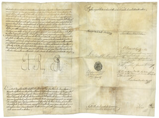 KING JOHN VI (PORTUGAL) - DOCUMENT SIGNED 05/30/1816