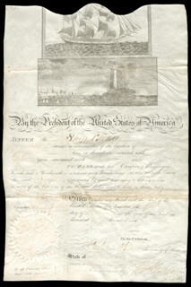 PRESIDENT JAMES MADISON - SHIPS PAPERS 02/01/1811 CO-SIGNED BY: ROBERT SMITH (POLITICIAN), MAJOR GENERAL HENRY DEARBORN