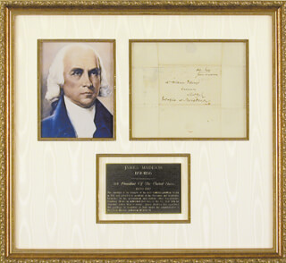 PRESIDENT JAMES MADISON - FREE FRANK SIGNED 3/14