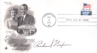 PRESIDENT RICHARD M. NIXON - FIRST DAY COVER SIGNED