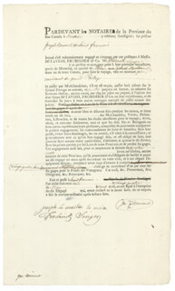 Autographs: JOSEPH BOISVERT - DOCUMENT SIGNED CO-SIGNED BY: FREDERICK SINGER, JOSEPH LE MAITRE