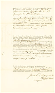 Autographs: JOSEPH S. DE FONTAINE - DOCUMENT SIGNED