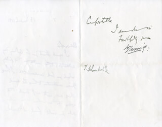 BRAM STOKER - AUTOGRAPH LETTER UNSIGNED 03/13/1891 WITH SIR HENRY IRVING