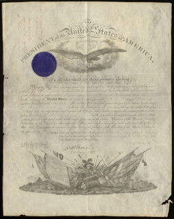 PRESIDENT ULYSSES S. GRANT - MILITARY APPOINTMENT SIGNED 04/14/1869 CO-SIGNED BY: MAJOR GENERAL JOHN A. RAWLINS, BRIGADIER GENERAL EDWARD DAVIS TOWNSEND