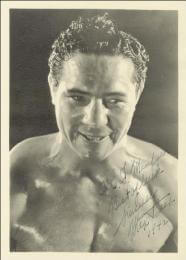 MAX BAER - AUTOGRAPHED INSCRIBED PHOTOGRAPH 1942