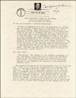 FIELD MARSHAL MONTGOMERY OF ALAMEIN (BERNARD MONTGOMERY) - TYPESCRIPT SIGNED 1973