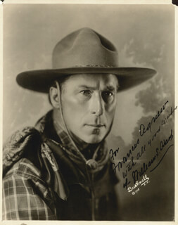 Autographs: WILLIAM S. HART - INSCRIBED PHOTOGRAPH SIGNED