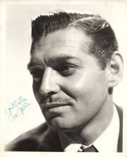 CLARK GABLE - AUTOGRAPHED SIGNED PHOTOGRAPH