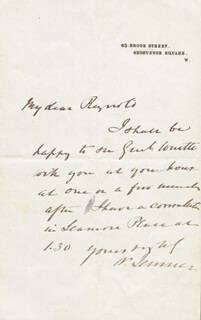WILLIAM 1ST BARONET JENNER - AUTOGRAPH LETTER SIGNED
