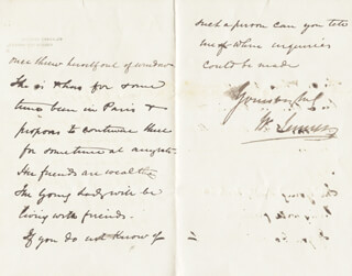 WILLIAM 1ST BARONET JENNER - AUTOGRAPH LETTER SIGNED 07/12/1872