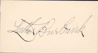 LUTHER BURBANK - AUTOGRAPH