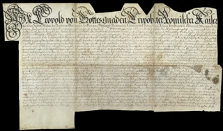 Autographs: EMPEROR LEOPOLD I - DOCUMENT SIGNED 1680