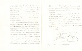 PRINCE FREDERICK KARL - AUTOGRAPH LETTER SIGNED 01/02/1877