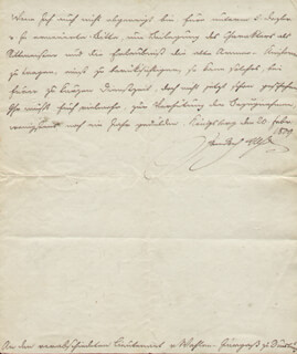KING FREDERICK WILLIAM III - AUTOGRAPH LETTER SIGNED 1809