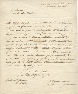 Autographs: KING FREDERICK WILLIAM III - AUTOGRAPH LETTER SIGNED 1802