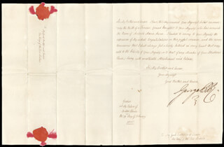 Autographs: KING GEORGE IV (GREAT BRITAIN) - MANUSCRIPT LETTER SIGNED 02/19/1815