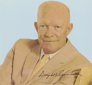 PRESIDENT DWIGHT D. EISENHOWER - MAGAZINE PHOTOGRAPH SIGNED