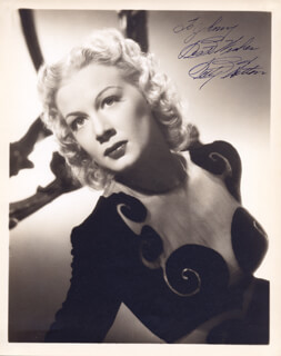 BETTY HUTTON - AUTOGRAPHED INSCRIBED PHOTOGRAPH