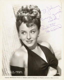 PAULETTE GODDARD - AUTOGRAPHED INSCRIBED PHOTOGRAPH