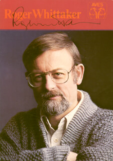 ROGER WHITTAKER - AUTOGRAPHED SIGNED PHOTOGRAPH