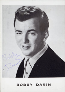 BOBBY DARIN - AUTOGRAPHED SIGNED PHOTOGRAPH