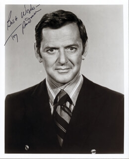 TONY RANDALL - AUTOGRAPHED SIGNED PHOTOGRAPH CIRCA 1972