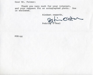 PATRICK O'NEAL - TYPED LETTER SIGNED