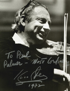 ISAAC STERN - AUTOGRAPHED INSCRIBED PHOTOGRAPH 1972