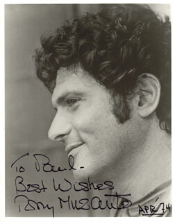 TONY MUSANTE - AUTOGRAPHED INSCRIBED PHOTOGRAPH 4/1974