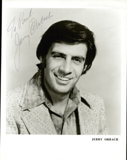 JERRY ORBACH - AUTOGRAPHED INSCRIBED PHOTOGRAPH CIRCA 1973