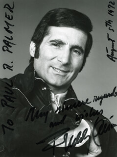 FREDDY QUINN - AUTOGRAPHED INSCRIBED PHOTOGRAPH 08/05/1972