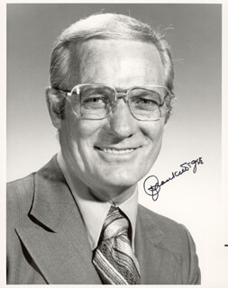 FRANK McGEE - AUTOGRAPHED SIGNED PHOTOGRAPH