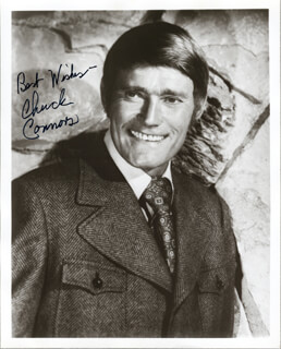 CHUCK CONNORS - AUTOGRAPHED SIGNED PHOTOGRAPH CIRCA 1972