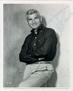 JEFF CHANDLER - AUTOGRAPHED INSCRIBED PHOTOGRAPH
