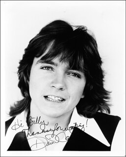 DAVID CASSIDY - AUTOGRAPHED SIGNED PHOTOGRAPH