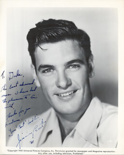 JAMES BEST - AUTOGRAPH NOTE ON PRINTED PHOTOGRAPH SIGNED IN INK