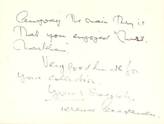 TERENCE ALEXANDER - AUTOGRAPH LETTER SIGNED