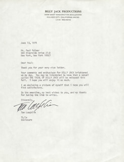 TOM LAUGHLIN - TYPED LETTER SIGNED 06/13/1974