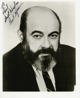PAUL LIPSON - AUTOGRAPHED SIGNED PHOTOGRAPH