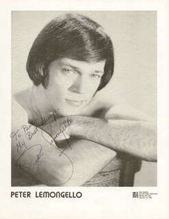 PETER LEMONGELLO - AUTOGRAPHED INSCRIBED PHOTOGRAPH