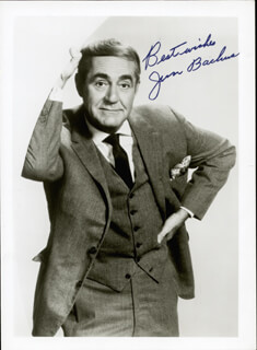 JIM BACKUS - AUTOGRAPHED SIGNED PHOTOGRAPH CIRCA 1973
