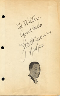 JOE E. BROWN - AUTOGRAPH NOTE SIGNED 09/24/1930