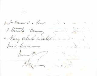 SIR JOSEPH FAYRER - AUTOGRAPH LETTER SIGNED