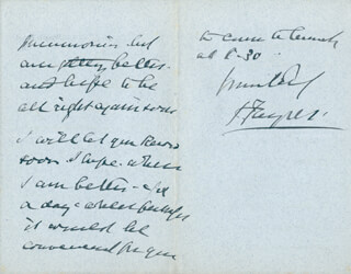 SIR JOSEPH FAYRER - AUTOGRAPH LETTER SIGNED 03/04/1895