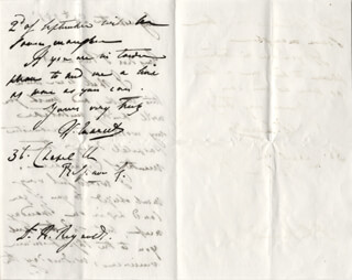 WILLIAM MARCET - AUTOGRAPH LETTER SIGNED 08/25/1857
